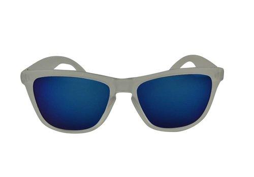 cee8db169daaf7 Transparante Spiegel Zonnebril met Blauwe spiegelglazen - Shine Way