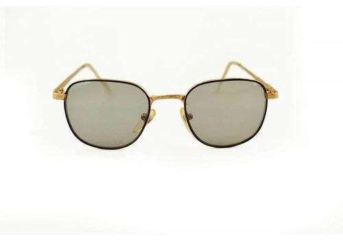 BK Goudkleurige Retro Zonnebril met Spiegelglazen