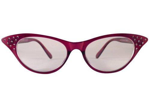 BK Rode Vlinderbril - Angie