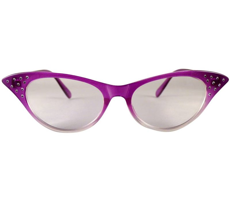 ANGIE PURPLE TRANSPARANT - PURPLE TRANSPARANT CLEAR LENS GLASSES