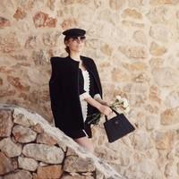 Bruine Ronde Dameszonnebril - New Round Designer Brown