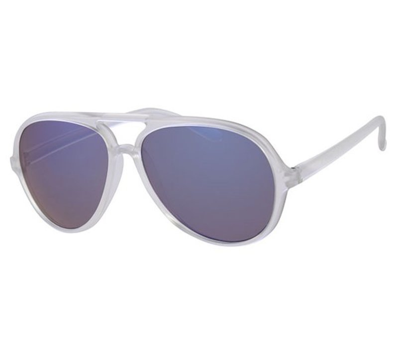 RETRO FROSTED PARTY SUMMER STYLE AVIATOR - ICE SUNNY