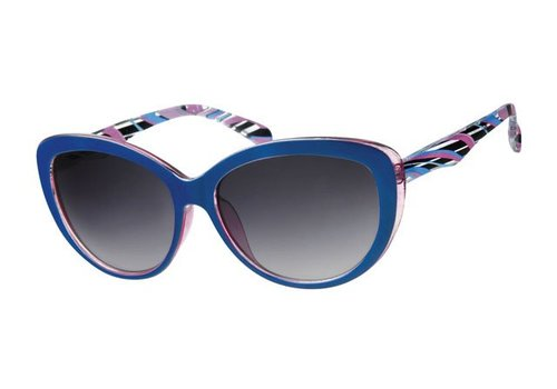 BK WOMENS RETRO CAT EYE SUNGLASSES - BLUE BAY
