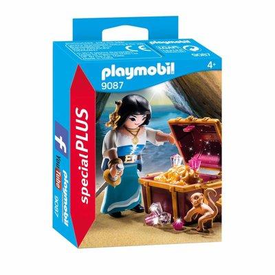 Playmobil Playmobil Special Plus Piratenvrouw met Schatkist 9087