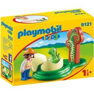 Playmobil 123 Onderzoeker met Baby Dino 9121