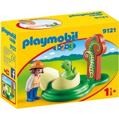 Playmobil Playmobil 123 Onderzoeker met Baby Dino 9121