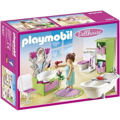 Playmobil Playmobil Dollhouse Badkamer met Bad op Pootjes 5307