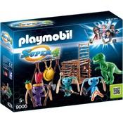 Playmobil Playmobil Super 4 Alien krijgers met T-Rex 9006