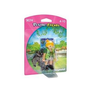 Playmobil Playmo Friends Dierenverzorgster met Baby Gorilla 9074