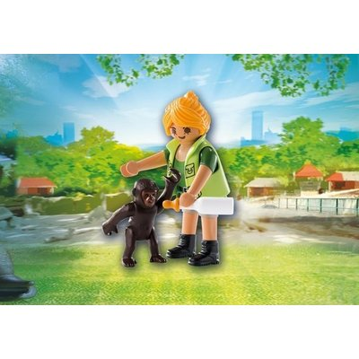 Playmobil Playmobil Playmo Friends Dierenverzorgster met Baby Gorilla 9074