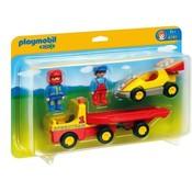 Playmobil Playmobil 123 Racewagen met Transportwagen 6761