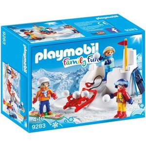 Playmobil Family Fun Sneeuwballengevecht 9283