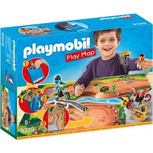 Playmobil Motorcrossers met Speel Plattegrond 9329