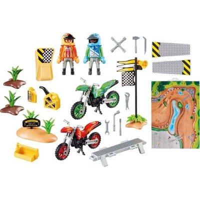 Playmobil Playmobil Motorcrossers met Speel Plattegrond 9329