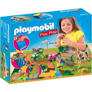 Playmobil Country Ponyrijders met Speel Plattegrond 9331