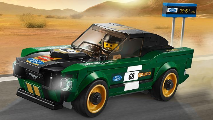 lego lego speed champions ford mustang fastback 75884. Black Bedroom Furniture Sets. Home Design Ideas
