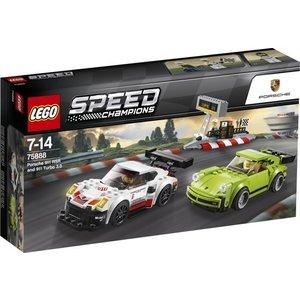 Lego Speed Champions Porsche 911 RSR en Porsche Turbo 3.0 75888