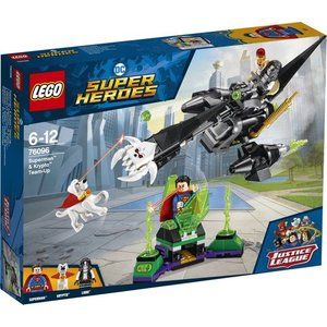 Lego Super Heroes Superman en Krypto Werken Samen 76096