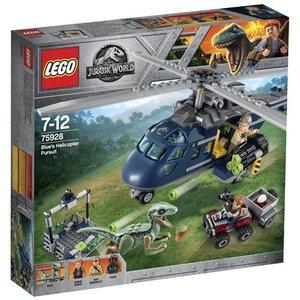 Lego Jurassic World Helikopterachtervolging van Blue 75928