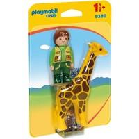 Playmobil 123 Dierenverzorgster en Giraffe 9380