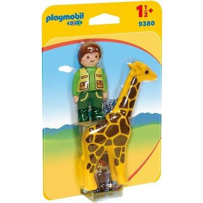 Playmobil Playmobil 123 Dierenverzorgster en Giraffe 9380