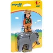 Playmobil Playmobil 123 Dierenverzorger met Olifant 9381