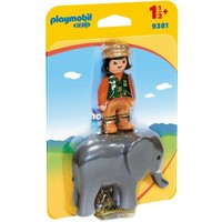 Playmobil 123 Dierenverzorger met Olifant 9381