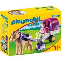 Playmobil 123 Paard met Kar 9390