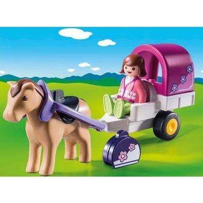 Playmobil Playmobil 123 Paard met Kar 9390