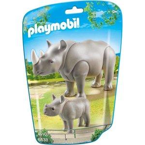 Playmobil City Life Neushoorn met Baby 6638