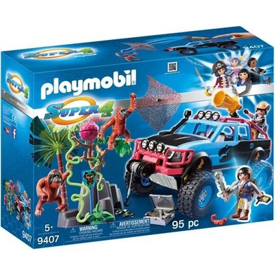 Playmobil Playmobil Super4 Monstertruck met Alex en Brute Brock 9407