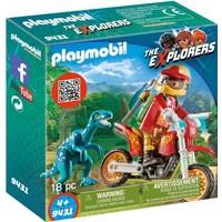 Playmobil Explorers Motorcrosser met Raptor 9431