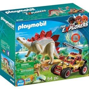 Playmobil Explorers Explorersbuggy met Stegosaurus 9432