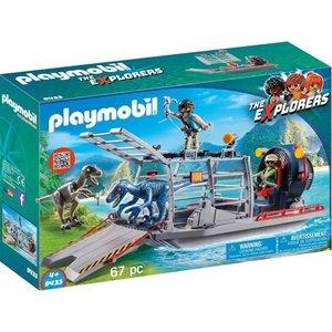 Playmobil Explorers Luchtkussenboot met Dinokooi 9433