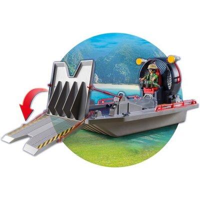 Playmobil Playmobil Explorers Luchtkussenboot met Dinokooi 9433