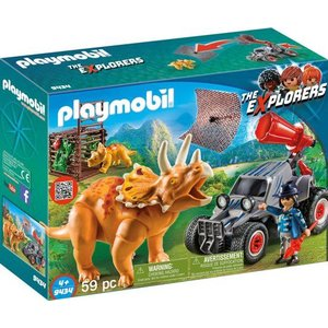 Playmobil Explorers Offroadbuggy met Dinovangnet 9434