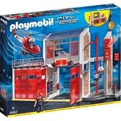 Playmobil Playmobil City Action Grote Brandweerkazerne met Helikopter 9462