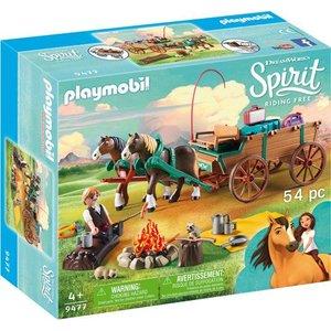 Playmobil Spirit Lucky's Vader en Wagen 9477