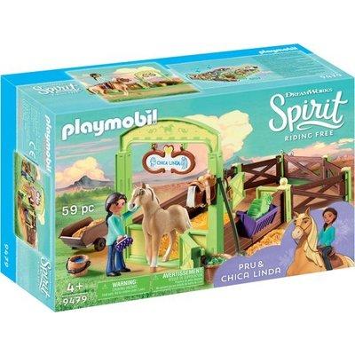 Playmobil Playmobil Spirit Pru en Chica Linda met Paardenbox 9479