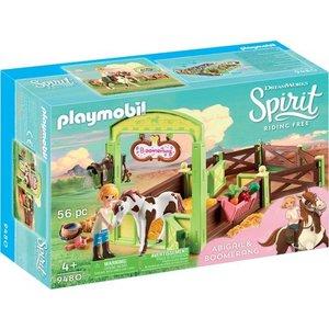 Playmobil Spirit Abigail en Boomerang met Paardenbox 9480