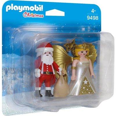 Playmobil Playmobil Christmas DuoPack Kerstman met Kerstengel 9498