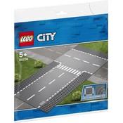 Lego Lego City Rechte Wegenplaten en T-Kruising 60236
