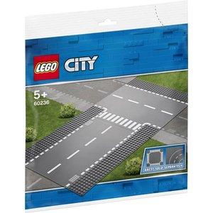 Lego City Rechte Wegenplaten en T-Kruising 60236