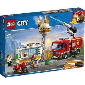 Lego City Brand bij het Hamburger Restaurant 60214