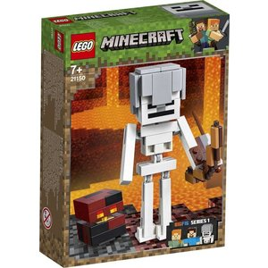 Lego Minecraft BigFig Skelet met Magmakubus 21150