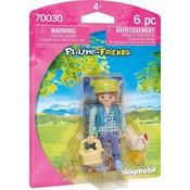 Playmobil Playmobil Playmo Friends Boerin met Kip 70030