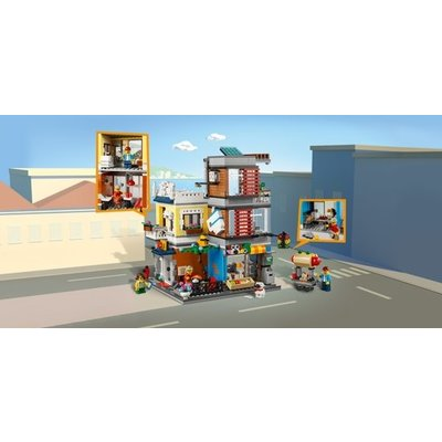 Lego Creator Woonhuis, Dierenwinkel & Café 31097