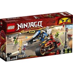 Lego Ninjago Zwaardmoter Kai en Sneeuwscooter Zane 70667