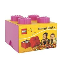 Lego Opbergbrick 4 Noppen Roze 700123
