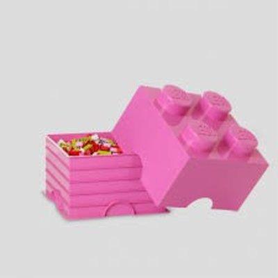 Lego Lego Opbergbrick 4 Noppen Roze 700123